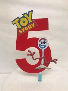Forky Toy Story  Cake Topper any age number Decoration Birthday