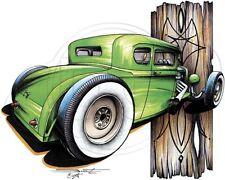 Classic Car T Shirt (MEDIUM) '31 Model A Coupe Rat Rod (Brent Gill # POS-339)