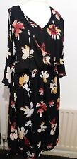 Beautiful, cold shoulder, 3/4 sleeve, black/floral dress size 18/20 George