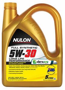 Nulon Full Synthetic Long Life Engine Oil 5W-30 5L SYN5W30-5 fits Toyota Yari...
