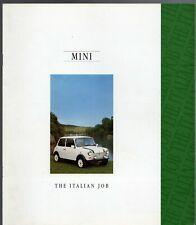 Rover Mini Italian Job 1.3 Limited Edition 1992 UK Market Sales Brochure