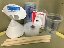 Auto Paint Refinish Paint Kit - Gloves, Sticks, Strainers, Lids, Tack Rag FAST