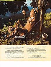 PUBLICITE ADVERTISING 024   1975   SCHNEIDER    transistor  SR 810