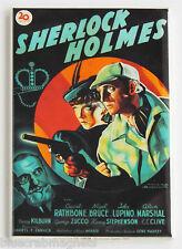 Sherlock Holmes FRIDGE MAGNET (2.5 x 3.5 inches) movie poster basil rathbone