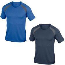 Hanes Cool-Dri Liso transpirable Azul Contraste Poliéster Deporte Camiseta