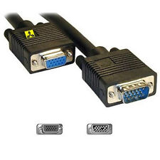 15 Metros Negro Monitor Vga Extension Lead Svga Lunes 15 Pin Cable 15 M