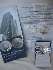 SLOWAKEI 2013 10 EURO SILBER PP PROOF - NATIONALBANK - ERSTAUSGABE - nur 2000!