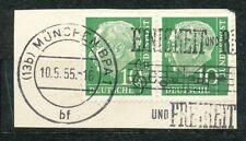 Bundespost  183 gebruikt paar op papier