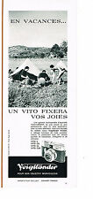 PUBLICITE ADVERTISING 044  1963  VOIGHTLANDER appareil photo  VITO