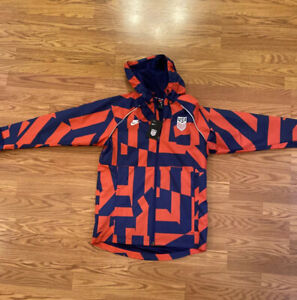Nike U.S. Awf Graphic Soccer Jacket In Speed Red,loyal Blue, Size M (CZ4332 688)