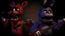 Five Nights at Freddy's FNAF Poster Bonny and Foxy Wall Art sizes A4 to A1 E006