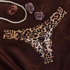 Women Sexy Leopard G-String Seamless Panties T-back Thongs Lingerie Underwear