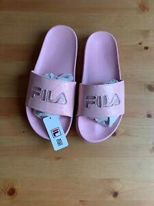 NWT Womens Pink FILA 'Drifter' Sliders - Size UK 5