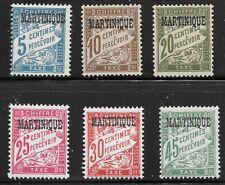 Martinique (1927) - Scott #  J15 - J20,    MH