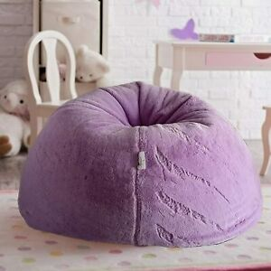 Bean bag Cover Furry Bean Bag without Bean Purple for luxuries Living room