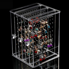 Acrylic Earring Rings Colletion Rack Necklace Storage Case Jewelry Display Stand