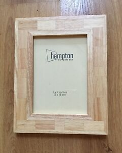 """siena natural solid wood photo frame 5""""x7"""""""