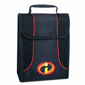 New Disney Store Incredibles Insulated School Lunch Sack Travel Cooler Tote Bag