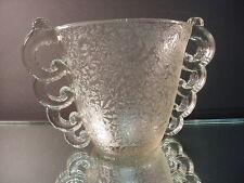 Rare Pierre D'Avesn Art Deco Clear Handled Glue Chip Vase Daum Freres France 30'