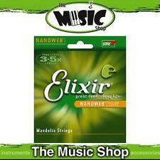 3 Sets of Elixir Nanoweb Light 10-34 Mandolin Strings - 80/20 Bronze - 11500