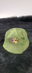 Vintage Disney Winnie The Pooh Green  Bucket Hat 90s Adult Size Stitched Toddler