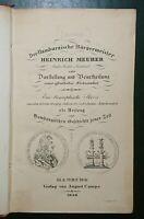 Rar! Hamburg 4 Schriften 1836! Der Hamburgische Bürgermeister Heinrich Meurer...