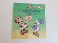 Minnie Mouse Tea Party Golden Children's Paperback Book Vintage