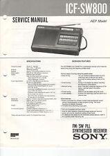 SONY Service Manual ICF-SW800 - B2028