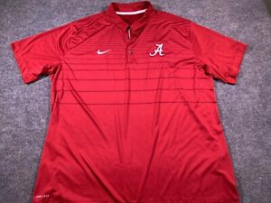 Nike Mens Dri-Fit Alabama Short Sleeve Polo Red XXL 2XL