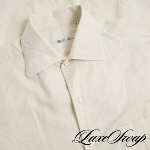 #1 MENSWEAR Loro Piana Made in Italy Vanilla Lightweight Flannel Fall Shirt M