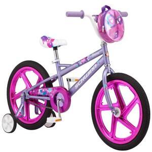 Schwinn Shine Girl's Sidewalk Bike, 18-inch mag wheels, ages 5 – 7, Purple