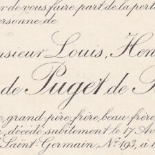 Marquis Louis Henry Edmond Eugène De Puget De Barbantane Paris 1893