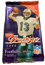 1998 Playoff Prestige Football sealed Packs Peyton Manning Rookie? 1 RC/Pack