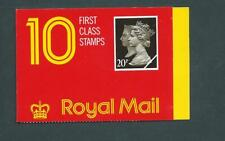 Jd3, 10 X 20p, Walsall Barcode Booklet