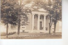 Eastern IL Real Photo Postcard Bixby Memorial Free Library Vergennes VT