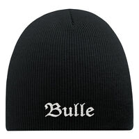 d9b08acdc29 (54517) Beanie Hip-Hop Cap Wool Knit Beanie Hat Embroidered Design Bull