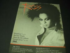 Diana Ross Telephone with Tour Dates 1985 Promo Poster Ad mint condition