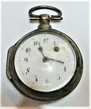ANTIQUE FRENCH VERGE FUSEE SILVER CASE POCKET WATCH CHOUEC GASTINES 18TH C.