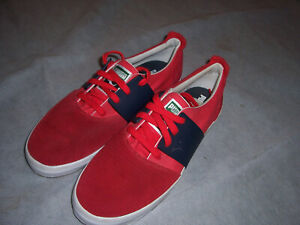 Puma El Ace 3 Leather Fashion Sneaker Red/Navy Size 9.5 US New~~l@@k!!!