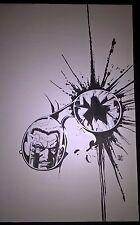 Armed & Dangerous Hell's Slaughterhouse #4 Original Ink Cover Bob Hall Valiant