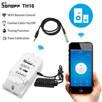 Sonoff TH16 Smart Wifi Switch Monitoring Temperature Humidity Sensor Kit Ewelink