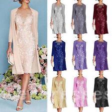 Pink Elegant Mother of the Bride Dresses Long Sleeves Formal Jacket Knee Length