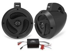 "NEW Pyle PLUTVA102 400W 4"" Marine Waterproof Speakers & Amplifier System"