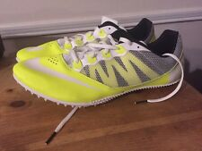 Nike Track Spikes Zoom Rival S Sprinter Nwob Mens Sz 10.5 616313-702 White Neon