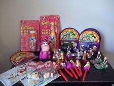 LARGE LOT OF The Flintstones Collectible FIGURINES, WIND-UP FIGURES,FLASHLIGHT +