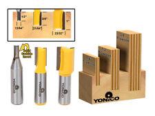 "3 Bit Undersize Plywood Dado Router Bit Set - 1/2"" Shank - Yonico 14323"