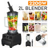 2L 2200W Heavy Duty Commercial Grade Blender Mixer for Juicer Food Fruit Ice US