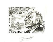 EX-LIBRIS de Frank-Ivo VAN DAMME pour Gil, BEUMONT.