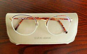 Genuine GIORGIO ARMANI 142 833. EyeGlasses Frame Glasses Semi rimless 52-20-140