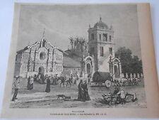 Cathédrale de Saint Michel à San Salvado 1893 Gravure Image Print
